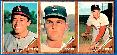 1962 Topps  3-Card PANEL -  DON DRYSDALE (NM/MINT) center !!! (Dodgers)