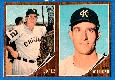 1962 Topps  2-Card PANEL - Al Lopez / Jerry Walker (White Sox/A's)