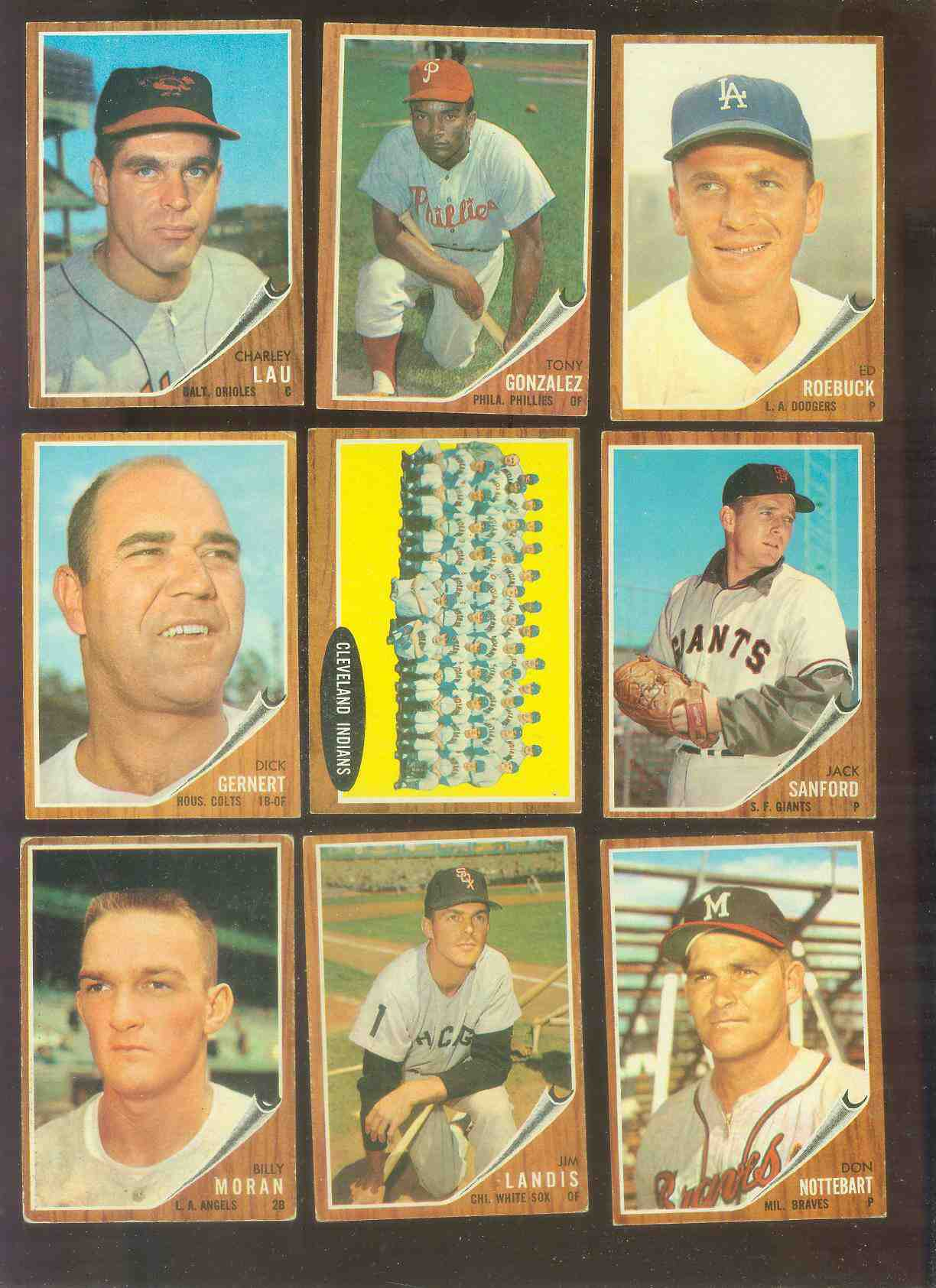 1962 Topps #537 Indians TEAM card [#x] HIGH #.. Baseball cards value