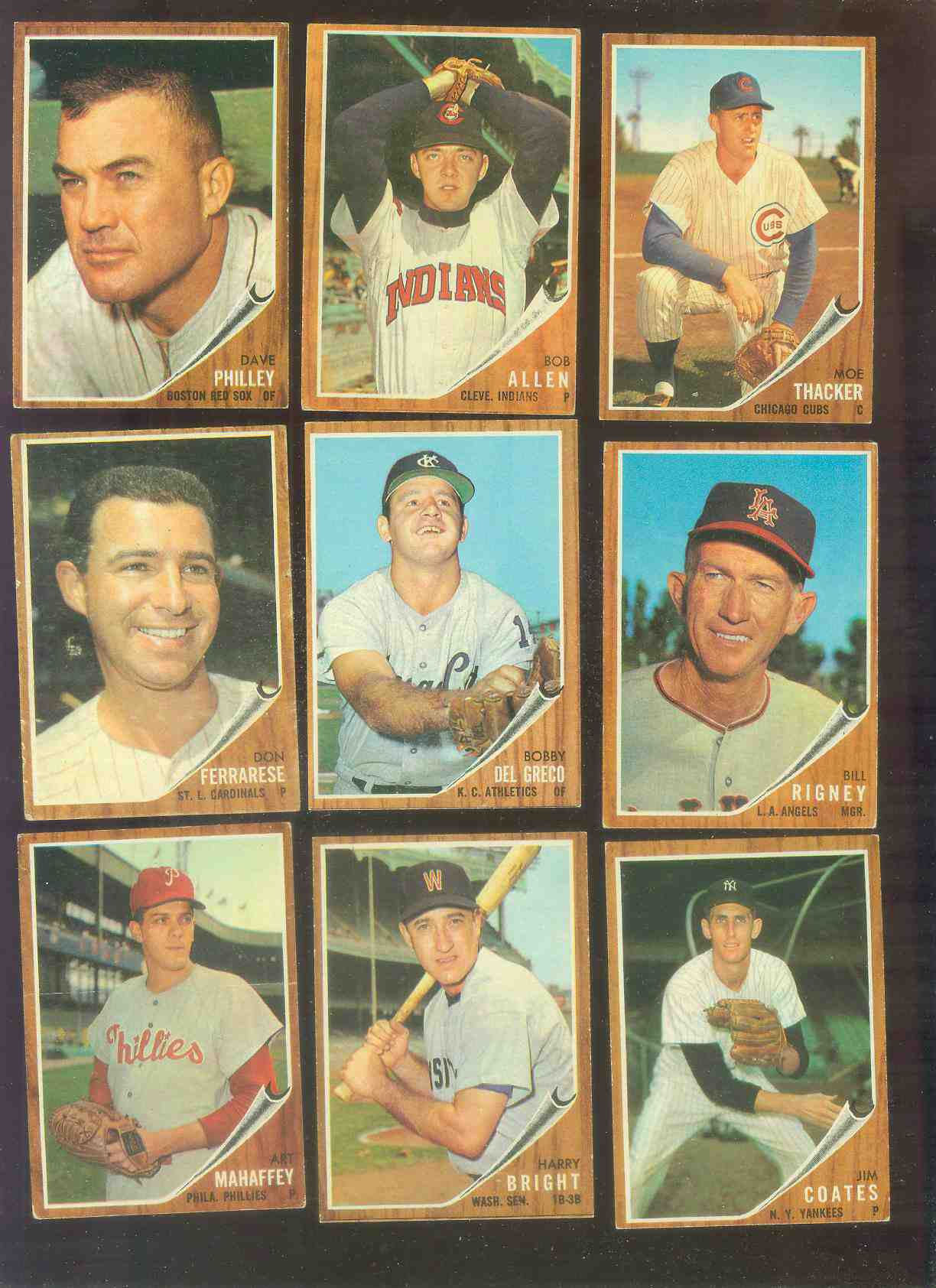 1962 Topps #551 Harry Bright [#c] HIGH #.(Senators) Baseball cards value