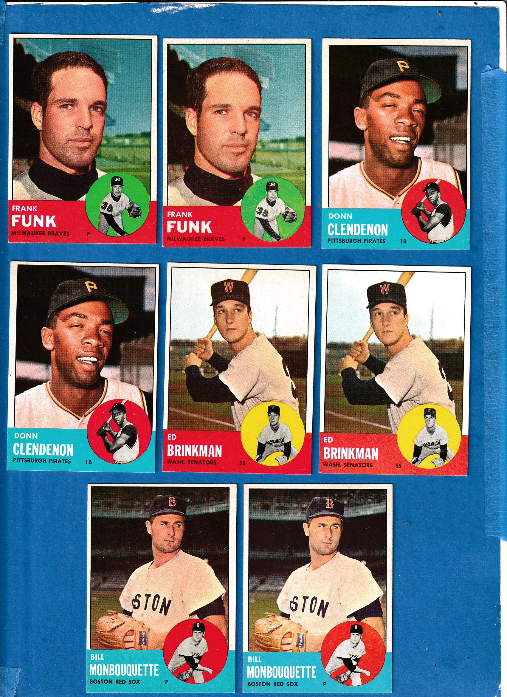 1963 Topps #477 Donn Clendenon SCARCEST MID SERIES (Pirates) Baseball cards value