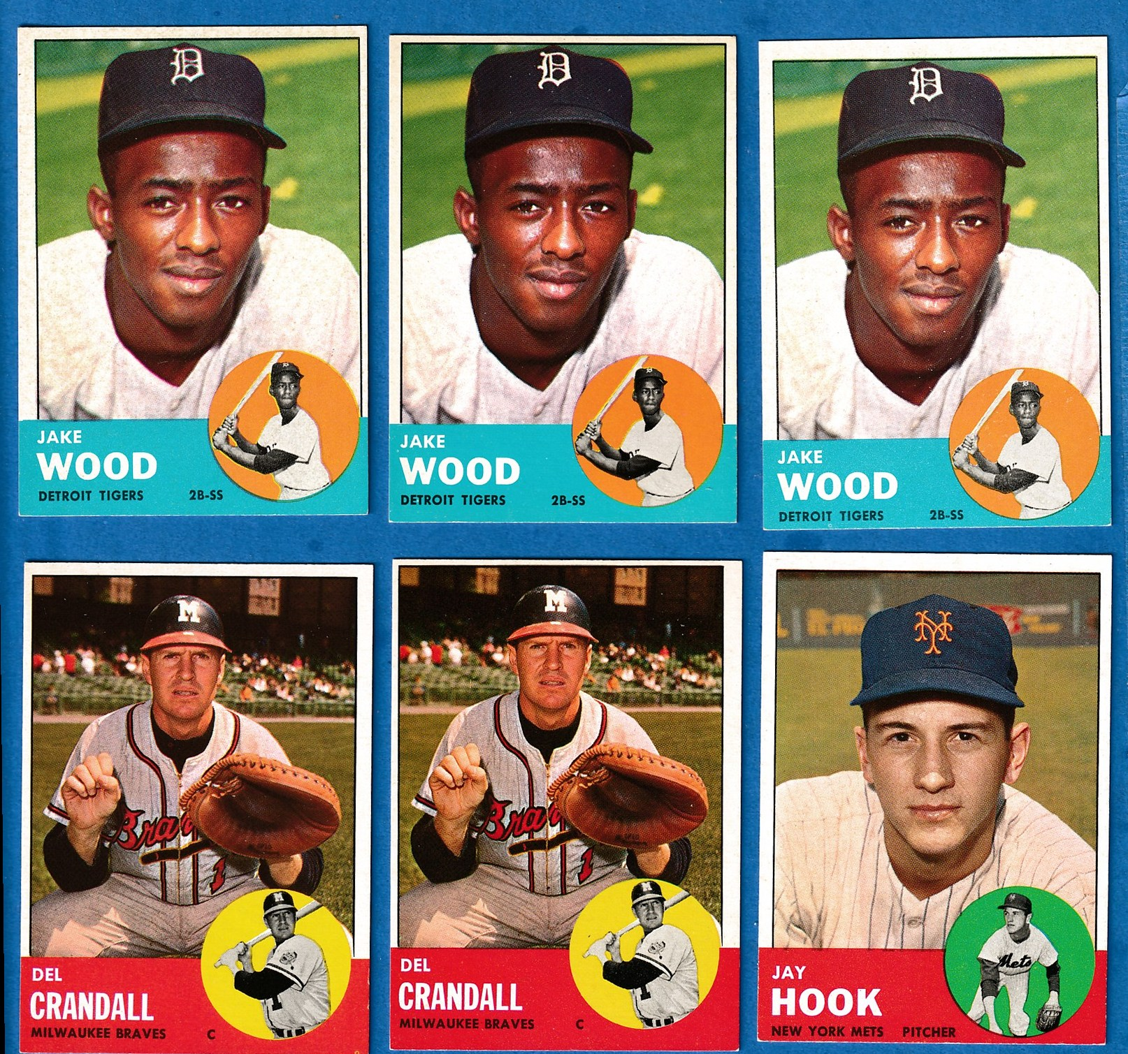 1963 Topps #453 Jake Wood SCARCEST MID SERIES (Tigers) Baseball cards value