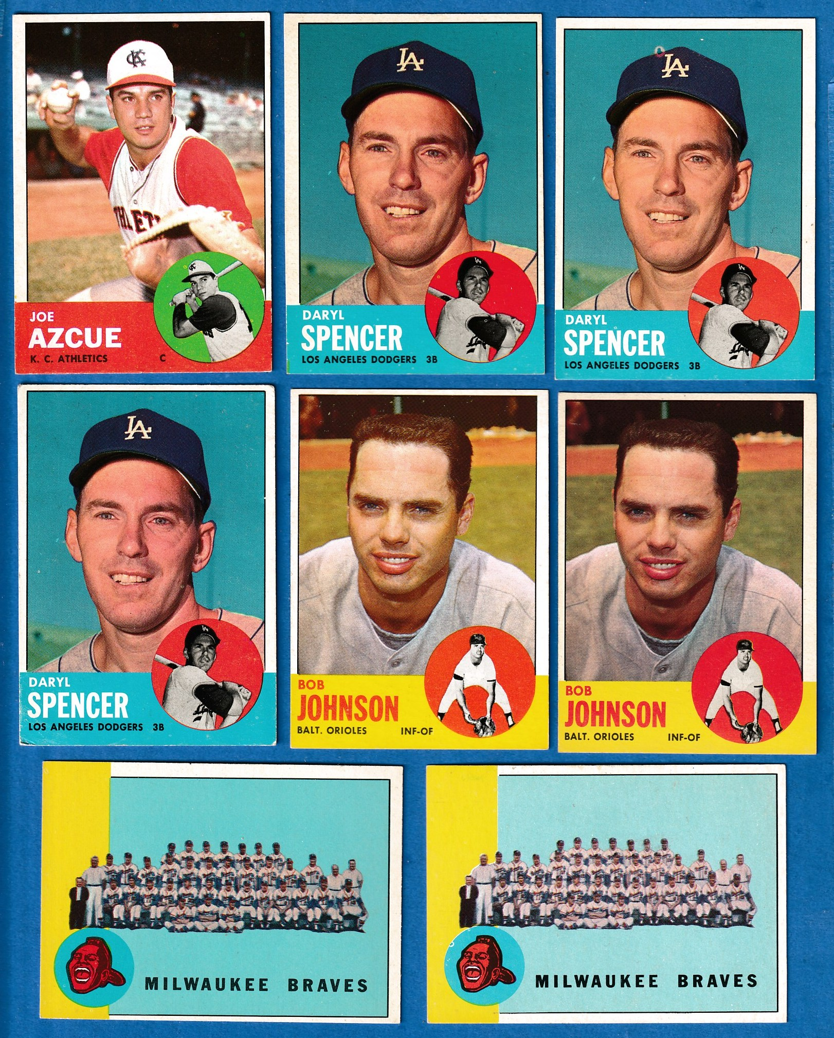 1963 Topps #502 Daryl Spencer SCARCEST MID SERIES (Dodgers) Baseball cards value