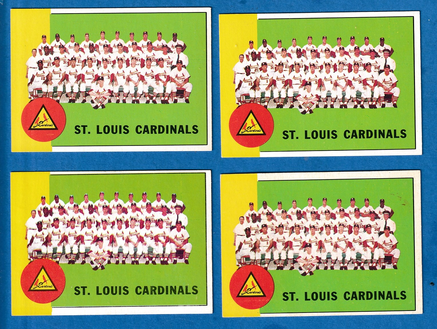 1963 Topps #524 Cardinals TEAM card SCARCE HIGH SERIES Baseball cards value