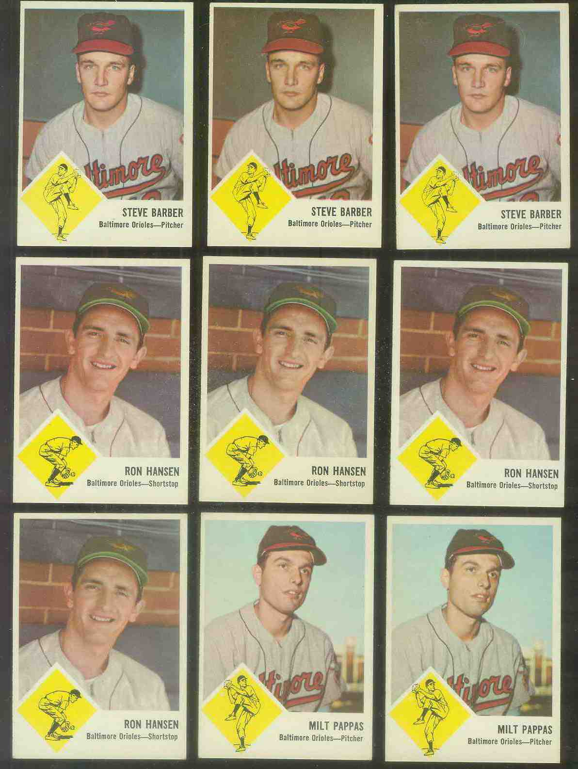 1963 Fleer #.3 Milt Pappas (Orioles) Baseball cards value