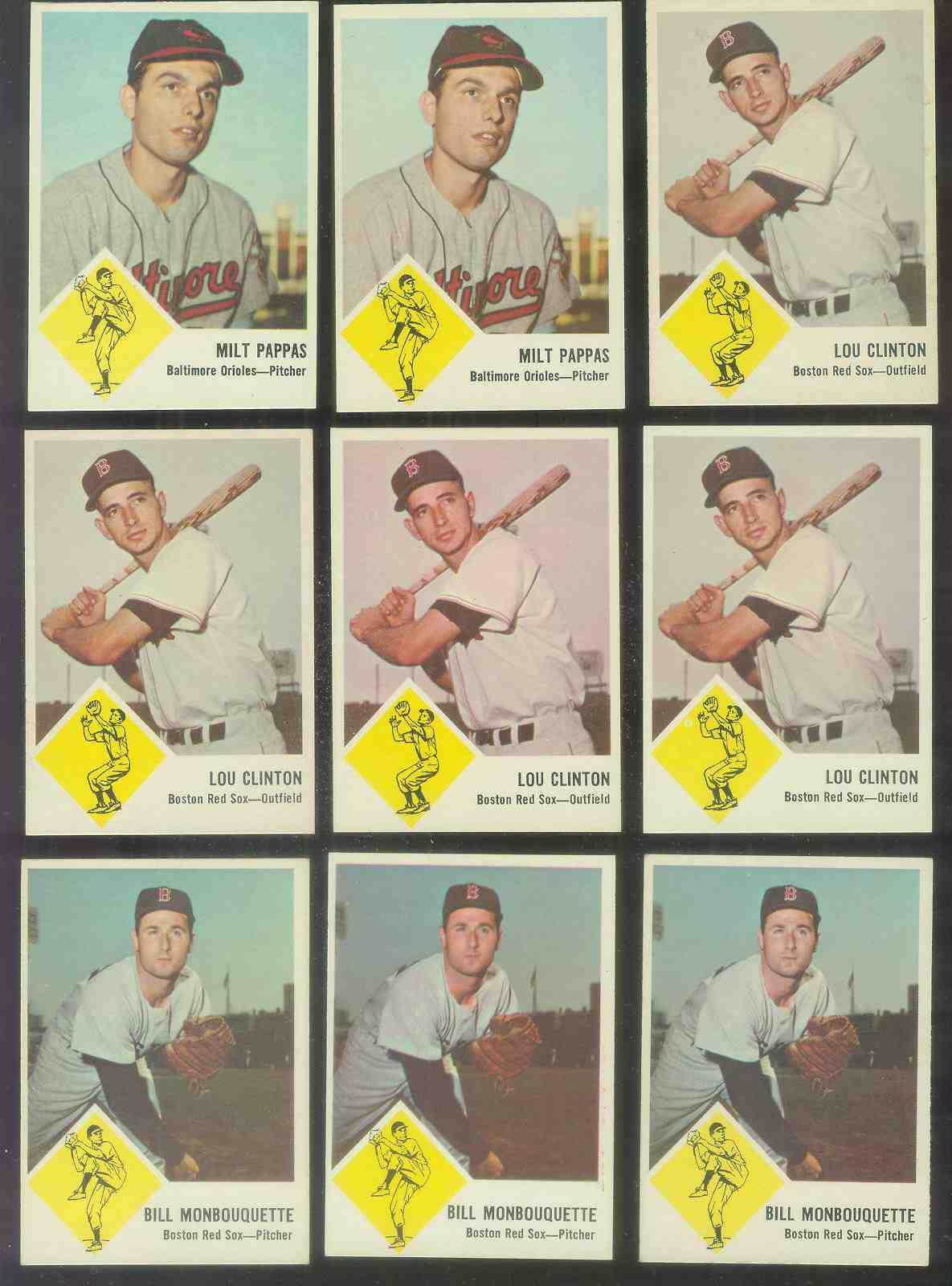 1963 Fleer # 3 Milt Pappas (Orioles) Baseball cards value