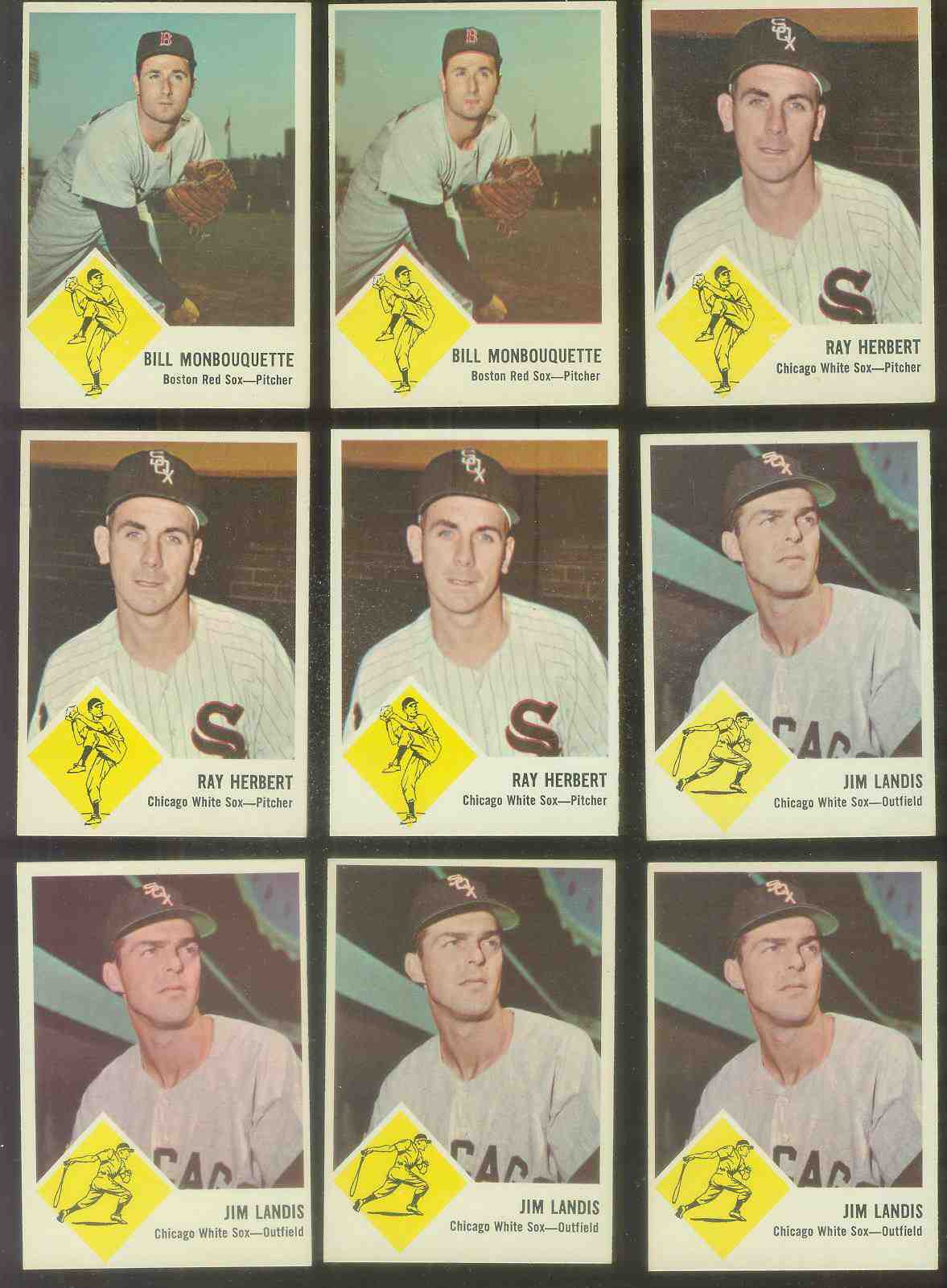 1963 Fleer #10 Jim Landis (White Sox) Baseball cards value