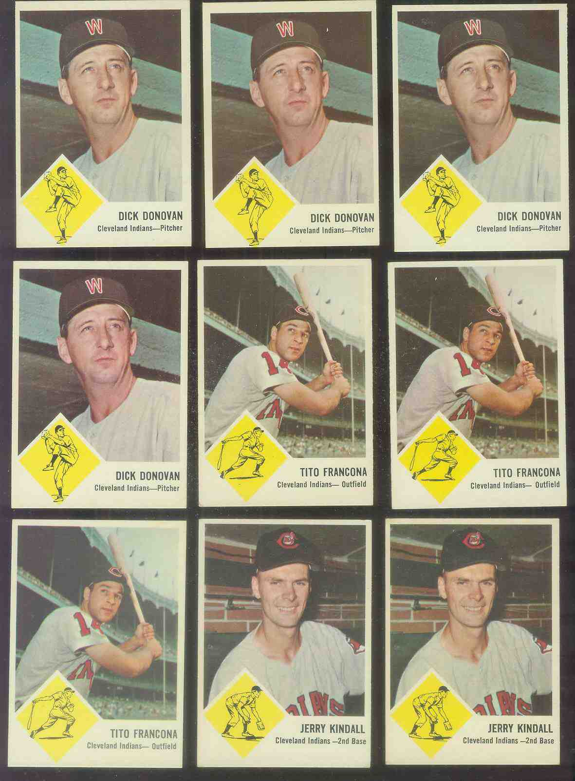 1963 Fleer #11 Dick Donovan (Indians) Baseball cards value