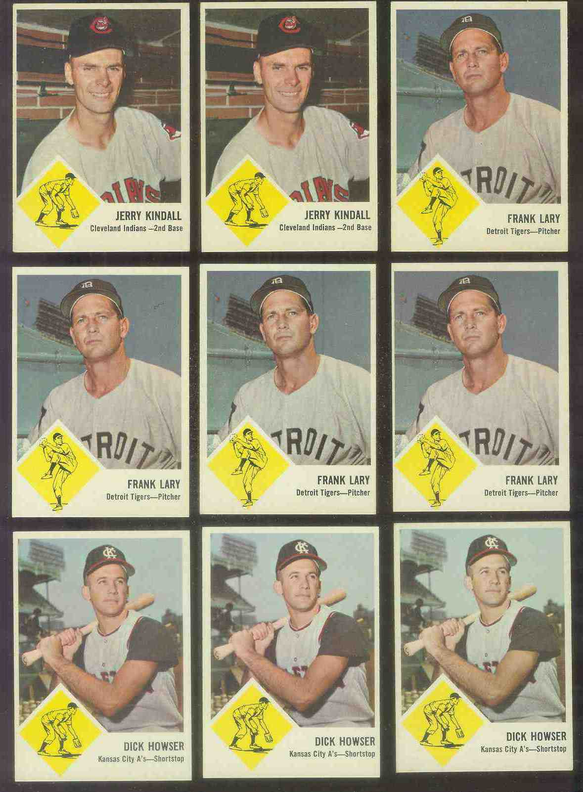 1963 Fleer #15 Dick Howser (Kansas City A's) Baseball cards value