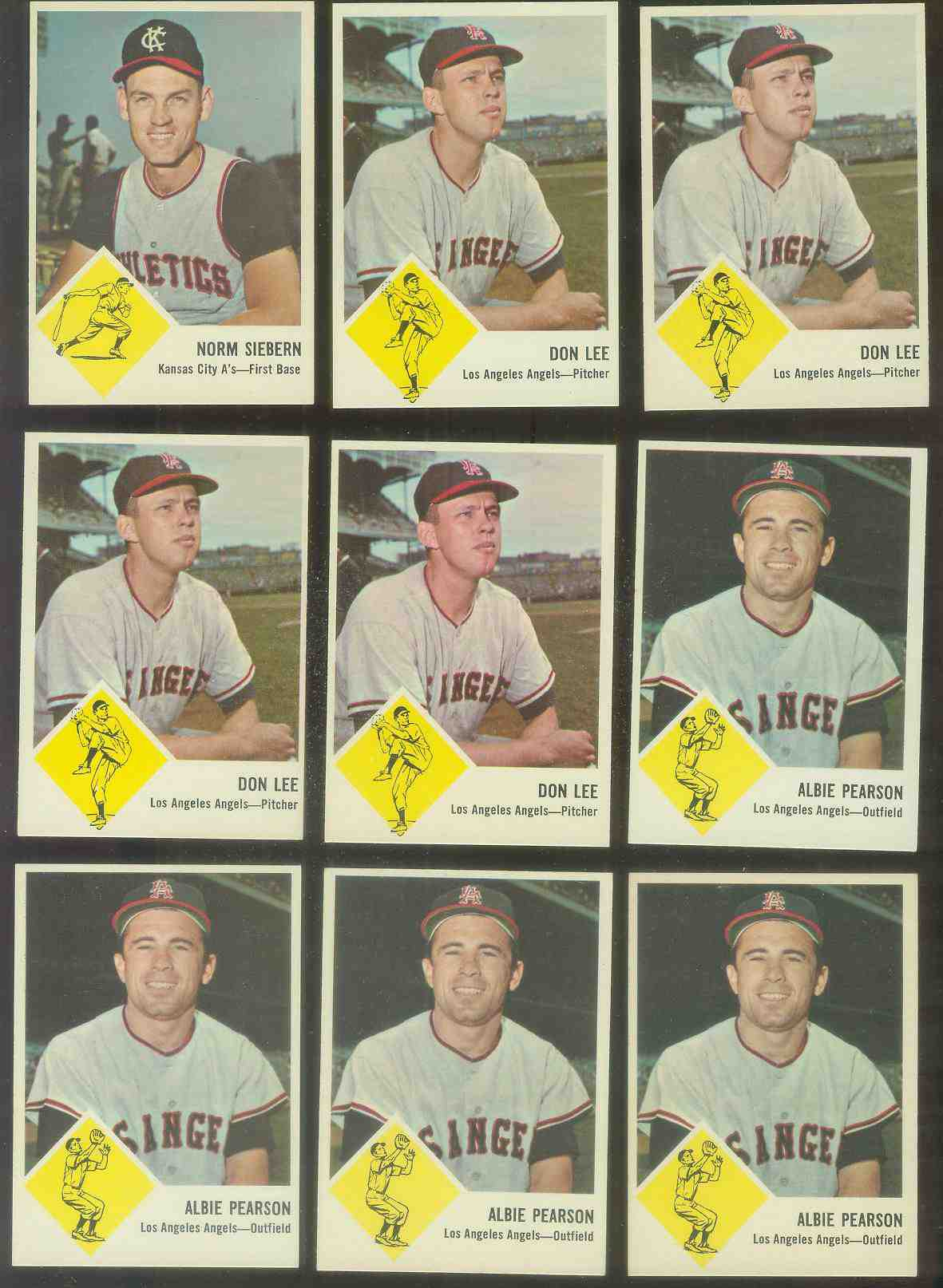 1963 Fleer #18 Don Lee (Angels) Baseball cards value
