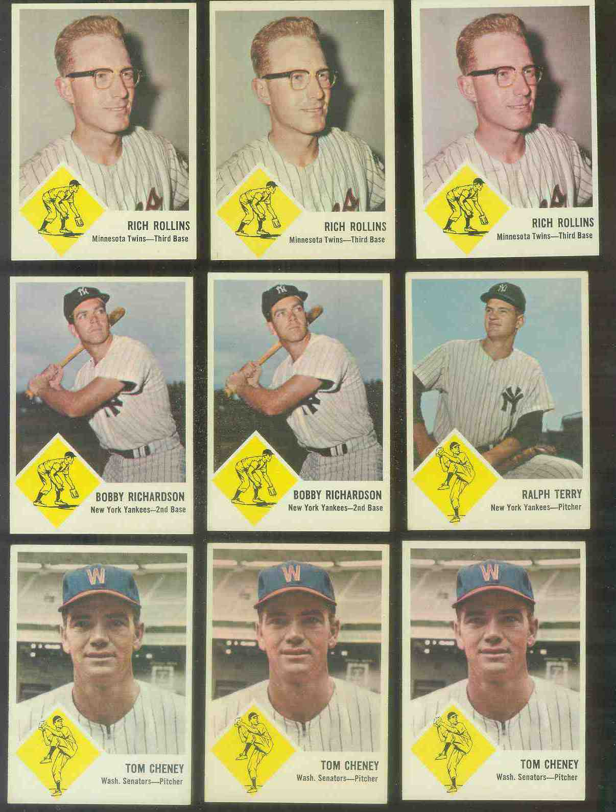 1963 Fleer #24 Rich Rollins (Twins) Baseball cards value