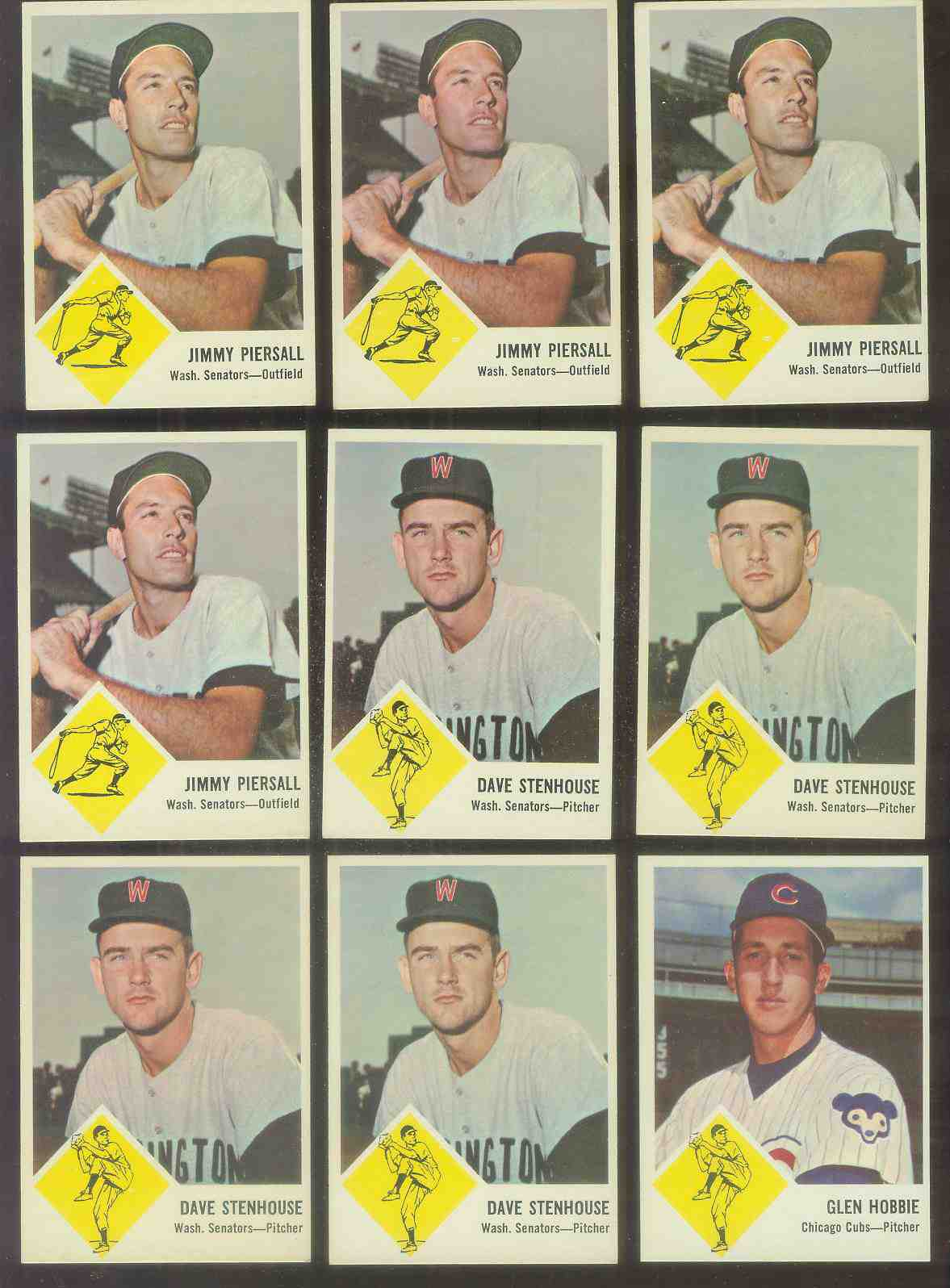 1963 Fleer #30 Dave Stenhouse (Senators) Baseball cards value
