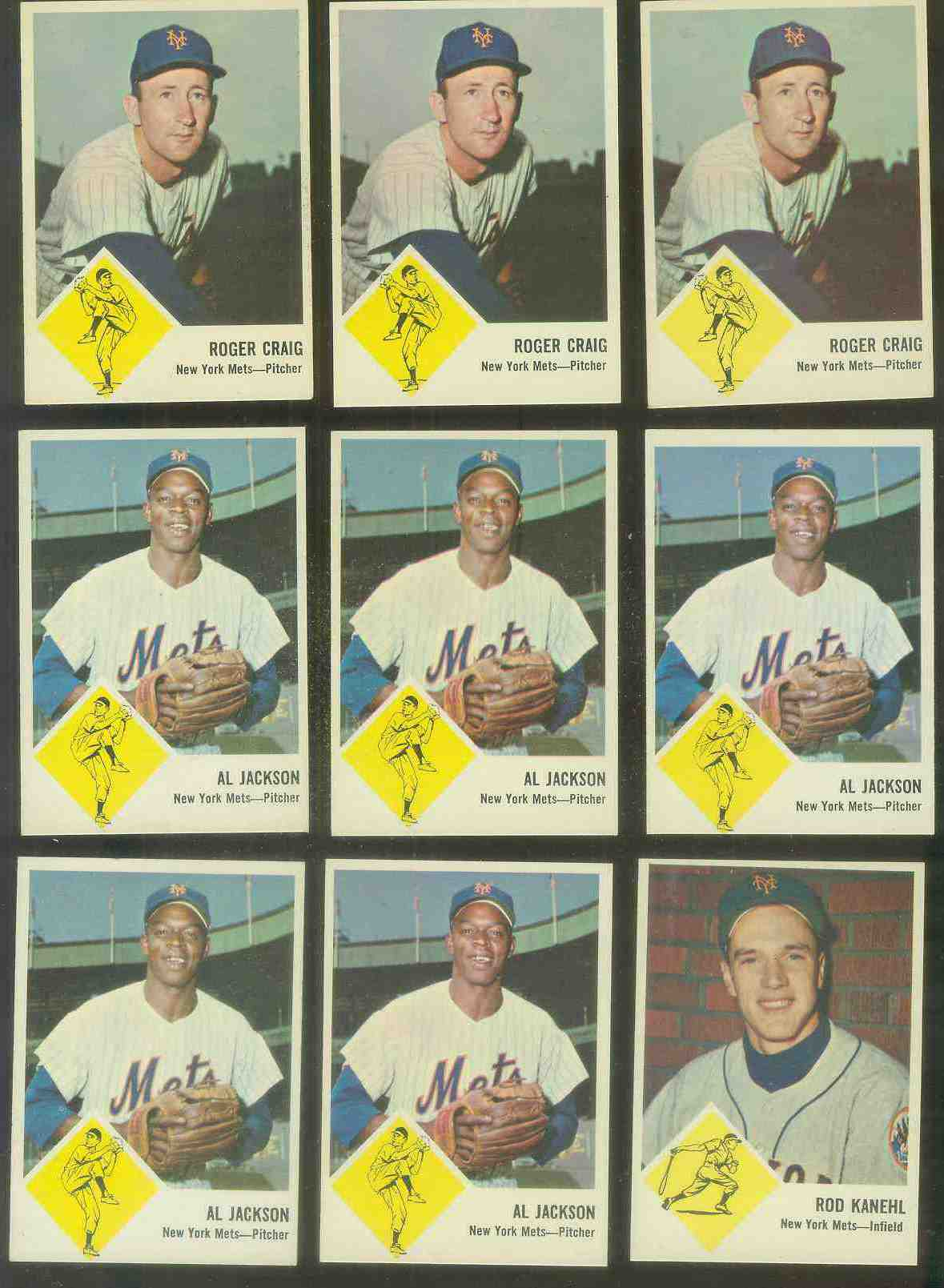 1963 Fleer #47 Roger Craig (Mets) Baseball cards value