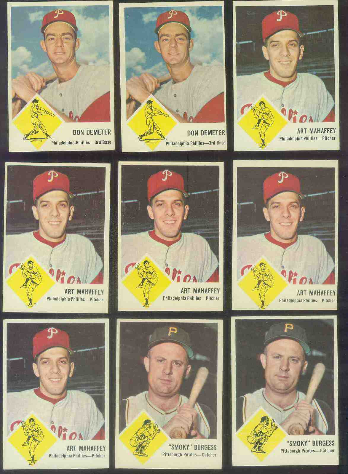 1963 Fleer #54 Art Mahaffey (Phillies) Baseball cards value