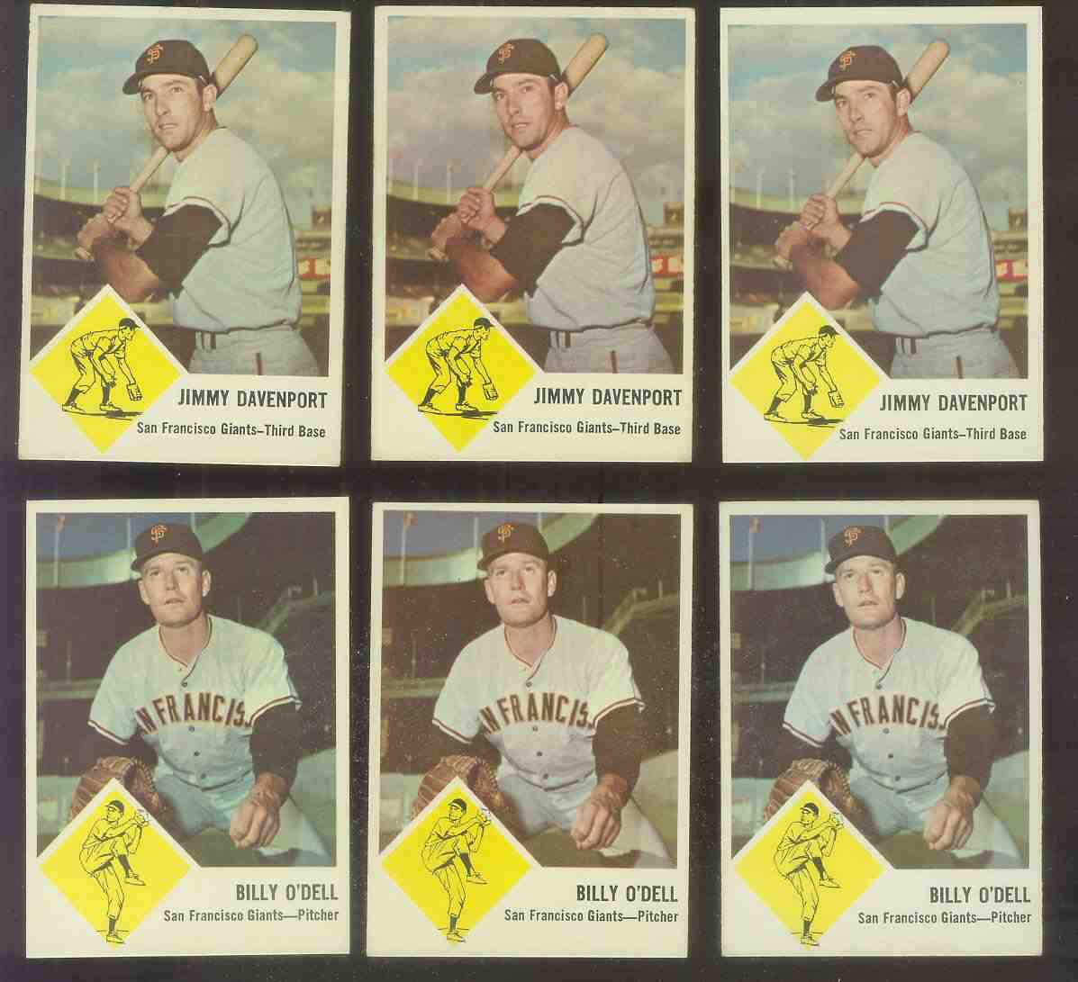 1963 Fleer #66 Billy O'Dell (Giants) Baseball cards value