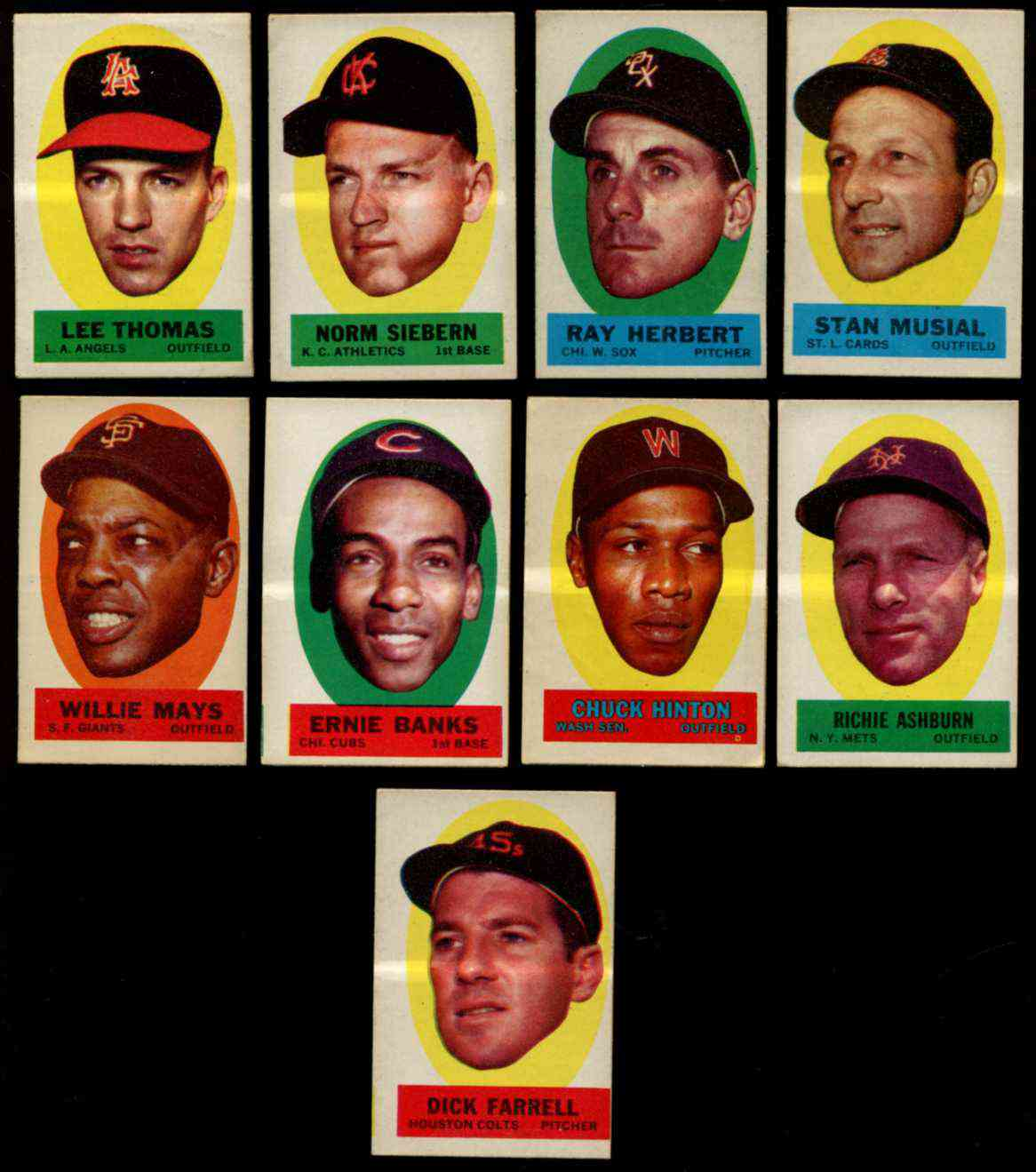 1963 Topps Peel-Offs 'Instructions-Back' - Willie Mays [#xEM] (Giants) Baseball cards value