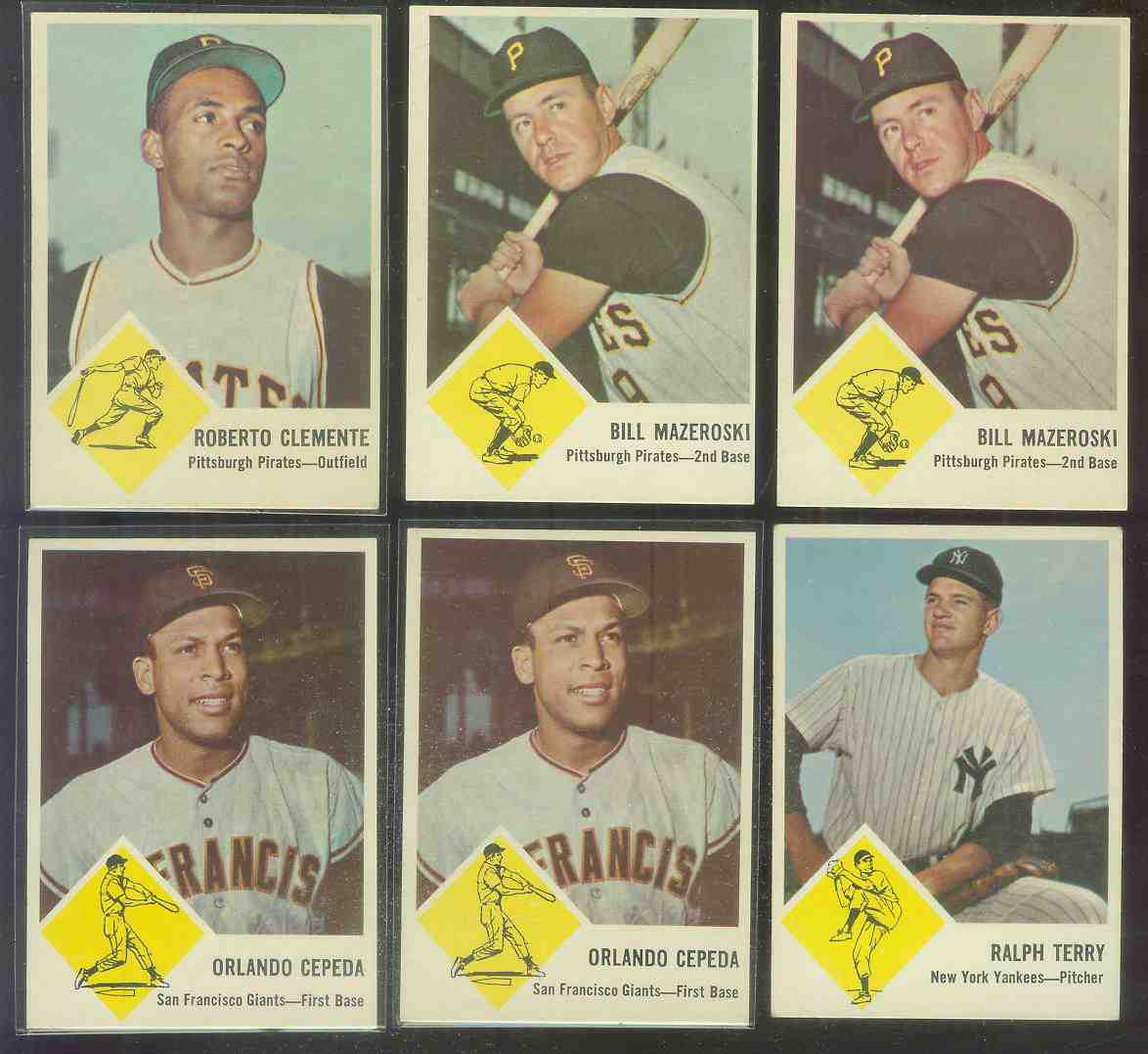 1963 Fleer #59 Bill Mazeroski (Pirates) Baseball cards value