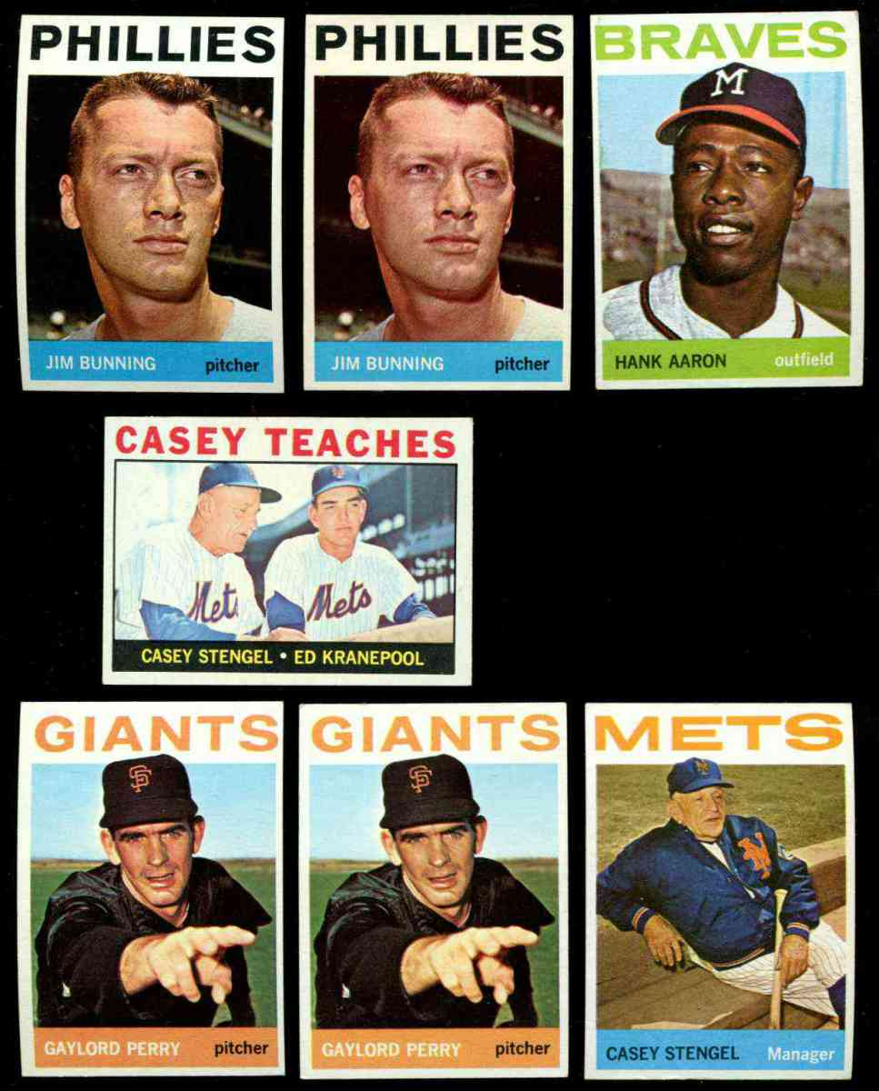 1964 Topps #324 Casey Stengel MGR [#a] (Mets) Baseball cards value