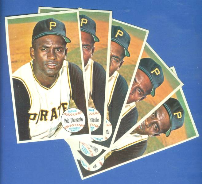 1964 Topps Giants #11 Roberto Clemente - LOT OF (5) Baseball cards value