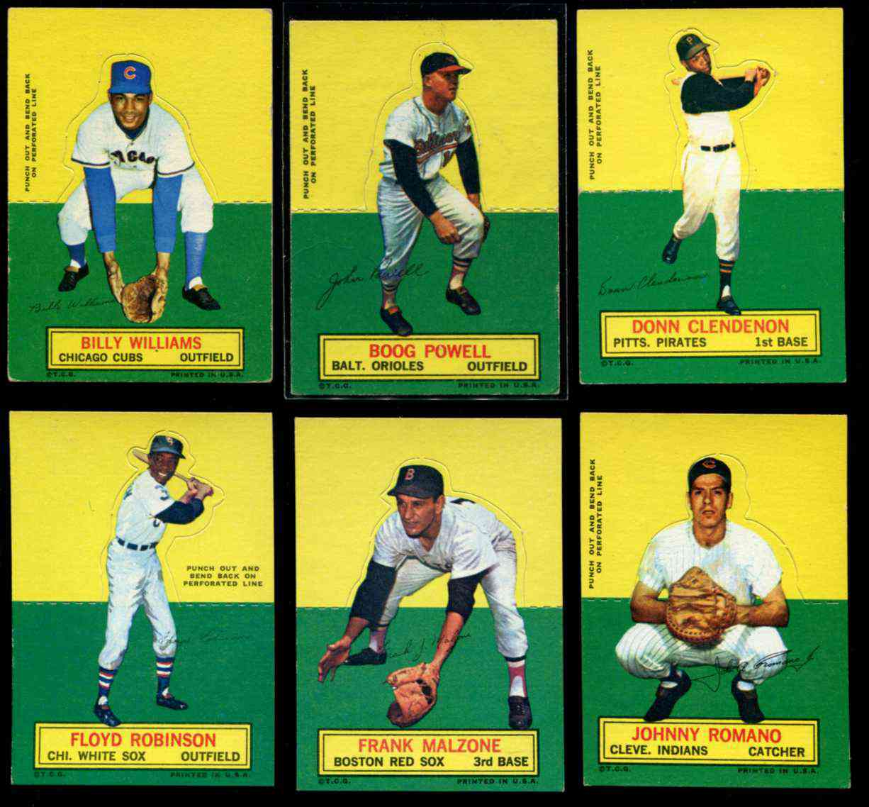 1964 Topps Stand-Ups/Standups - Floyd Robinson [#x] (White Sox) Baseball cards value