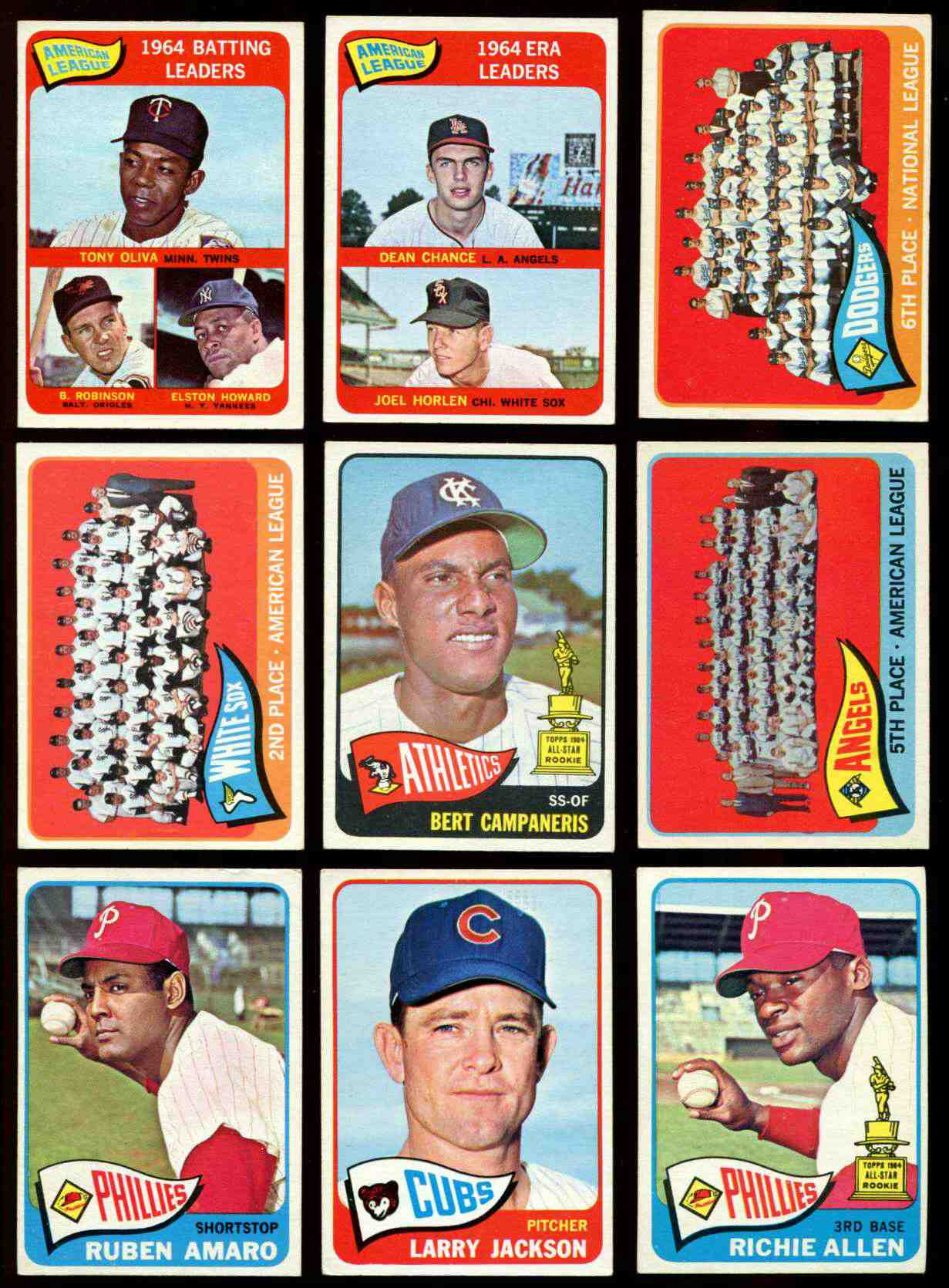 1965 Topps #..1 A.L. Batting Leaders [#x] (Tony Oliva,Brooks Robinson) Baseball cards value