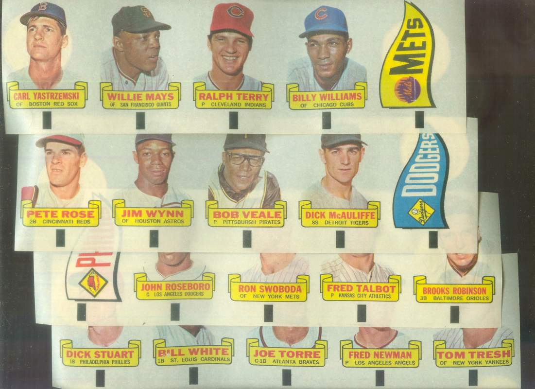 1966 Topps RUB-OFFS #100 Carl Yastrzemski [wm] Baseball cards value