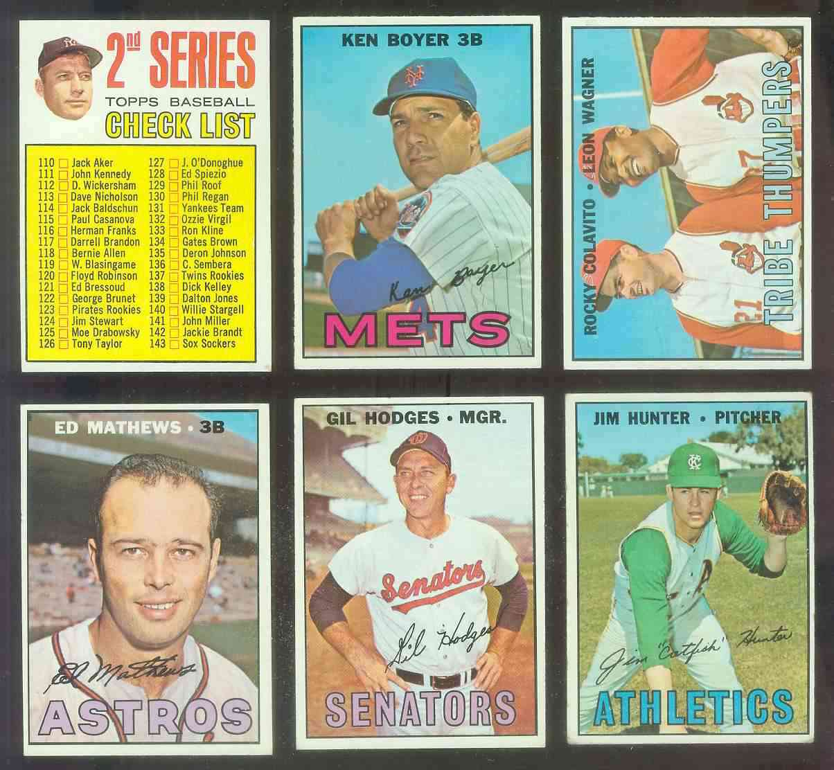 1967 Topps #454A 6th Series Checklist [#b] (Juan Marichal,no left ear) Baseball cards value