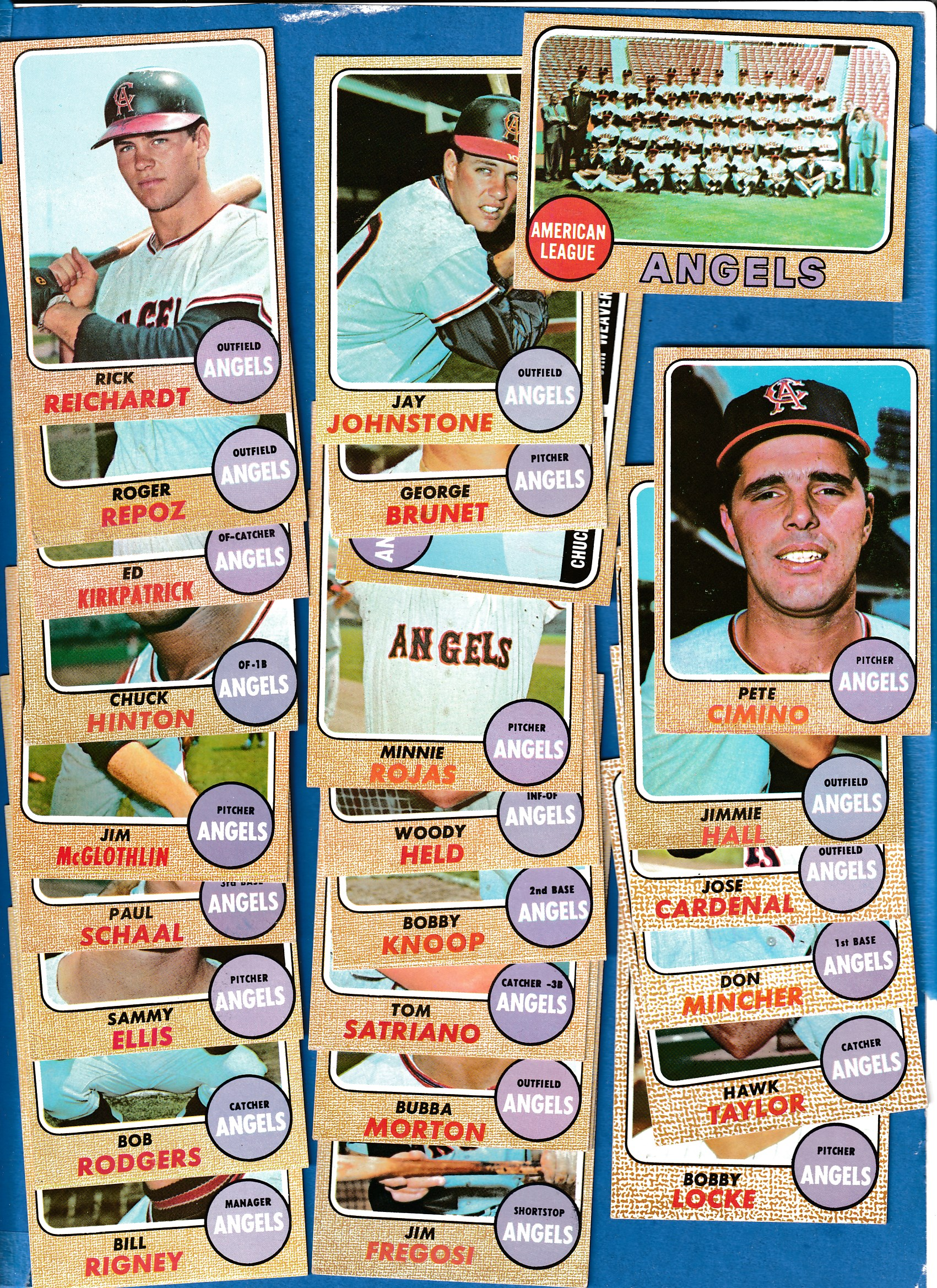 1968 Topps Angels California Complete Team Set 26