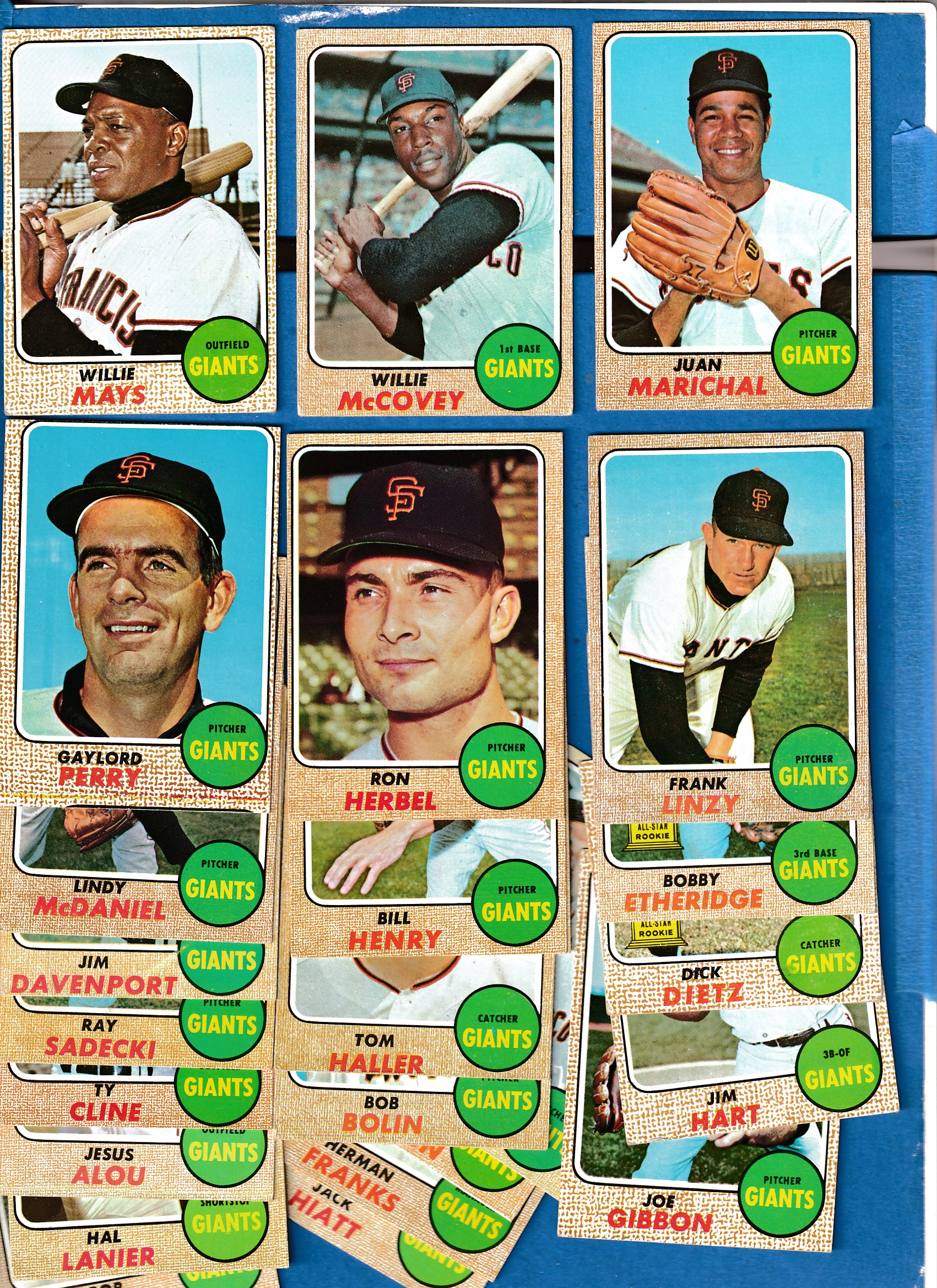 1968 Topps Giants Near Complete Team Set 24
