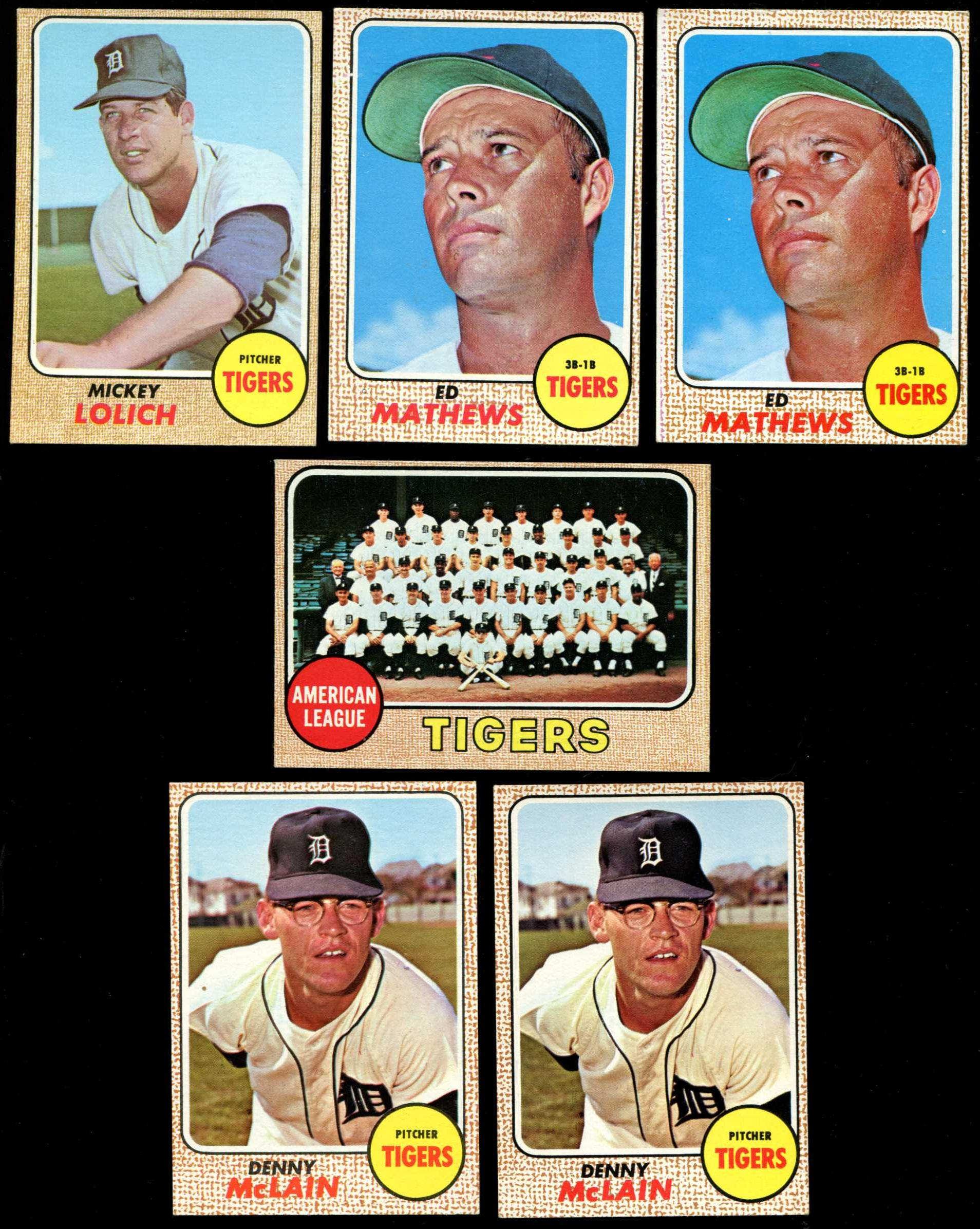 1968 Topps # 40 Denny McLain (Tigers) Baseball cards value