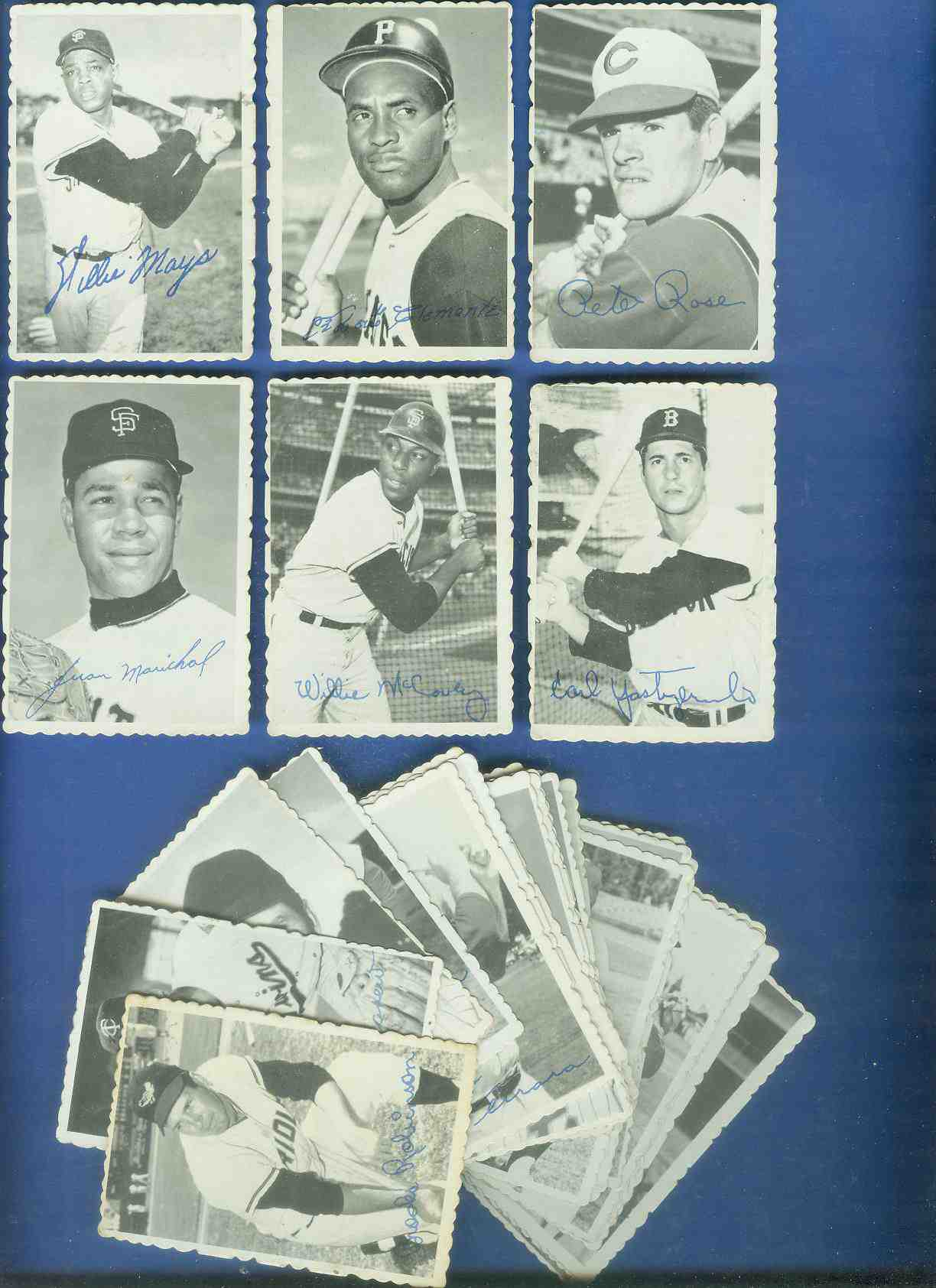 1969 Topps DECKLE EDGE COMPLETE SET - 33 Die-Cut inserts packed with STARS Baseball cards value