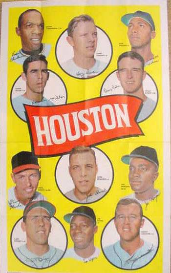 1969 Topps TEAM POSTERS #.6 Houston Astros Baseball cards value