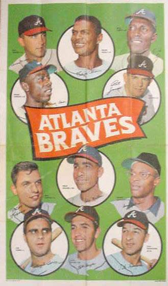 1969 Topps TEAM POSTERS #.2 Atlanta Braves Baseball cards value