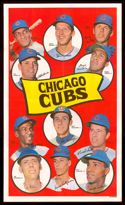 1969 Topps TEAM POSTERS #.4 Chicago Cubs Baseball cards value