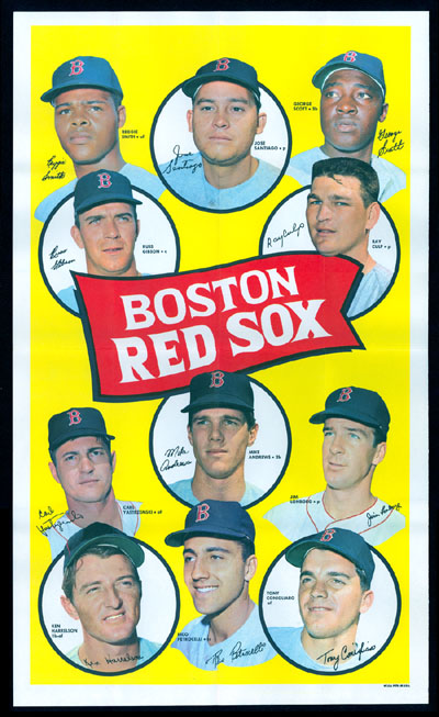 1969 Topps TEAM POSTERS #.3 Boston Red Sox Baseball cards value