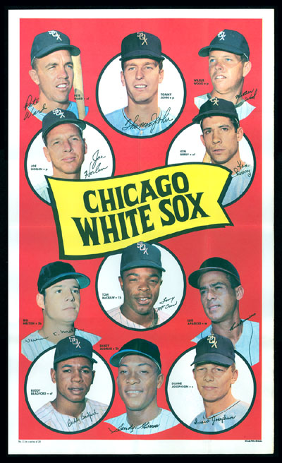 1969 Topps TEAM POSTERS #11 Chicago White Sox Baseball cards value
