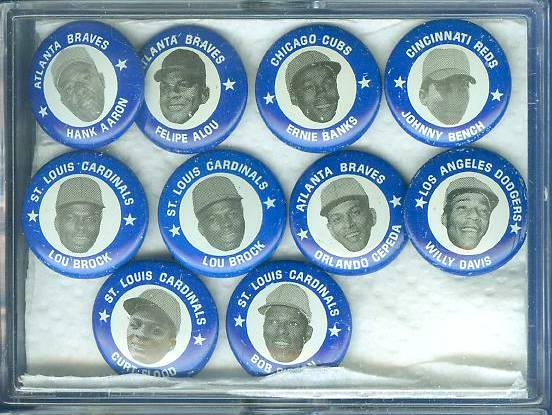 1969 MLBPA Pins #36 Lou Brock Baseball cards value