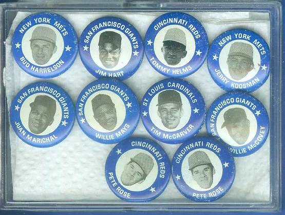 1969 MLBPA Pins #52 Willie Mays Baseball cards value