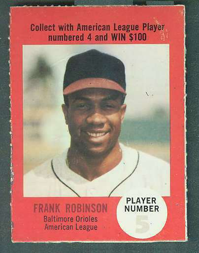 1968 Atlantic Oil Play Ball #38 Frank Robinson [rules back] [#c] (Orioles) Baseball cards value
