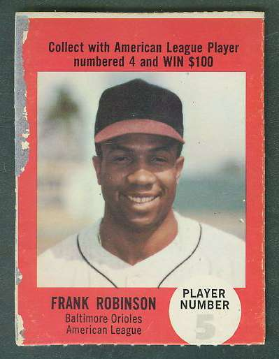 1968 Atlantic Oil Play Ball #38 Frank Robinson [rules back] [#d] (Orioles) Baseball cards value