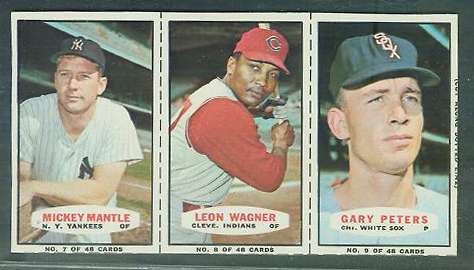 1967 Bazooka COMPLETE PANEL #.7-9 MICKEY MANTLE/Gary Peters/Leon Wagner Baseball cards value