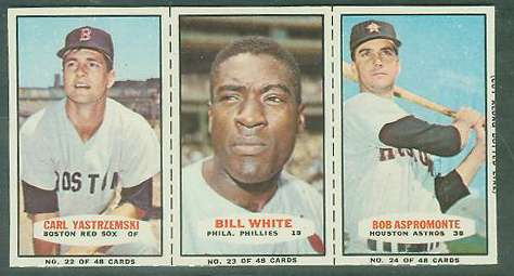 1967 Bazooka COMPLETE PANEL #22-24 CARL YASTRZEMSKI/Bill White ... Baseball cards value