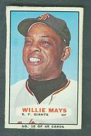 1967 Bazooka #16 WILLIE MAYS (Giants) Baseball cards value