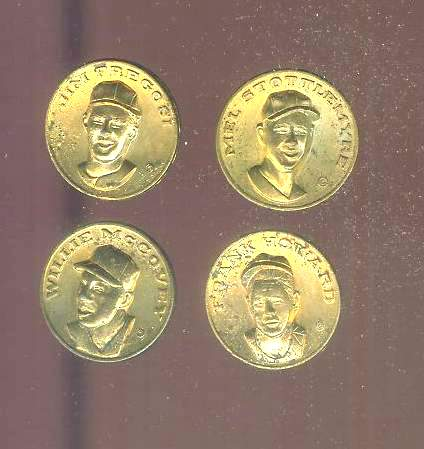 1969 Citgo coins - Lot of (4) different w/WILLIE McCOVEY Baseball cards value