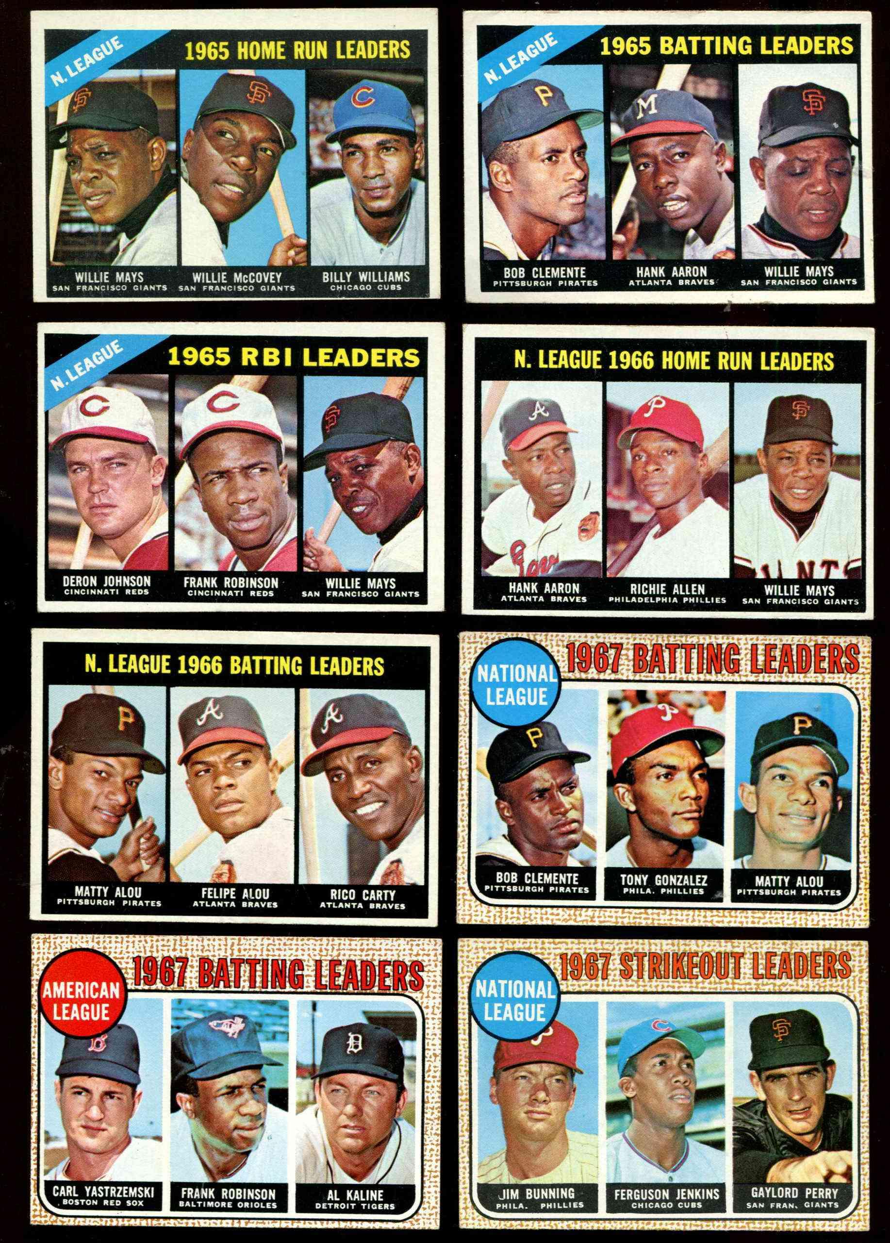 1967 Topps 244 Nl Home Run Leaders Hank Aaronwillie