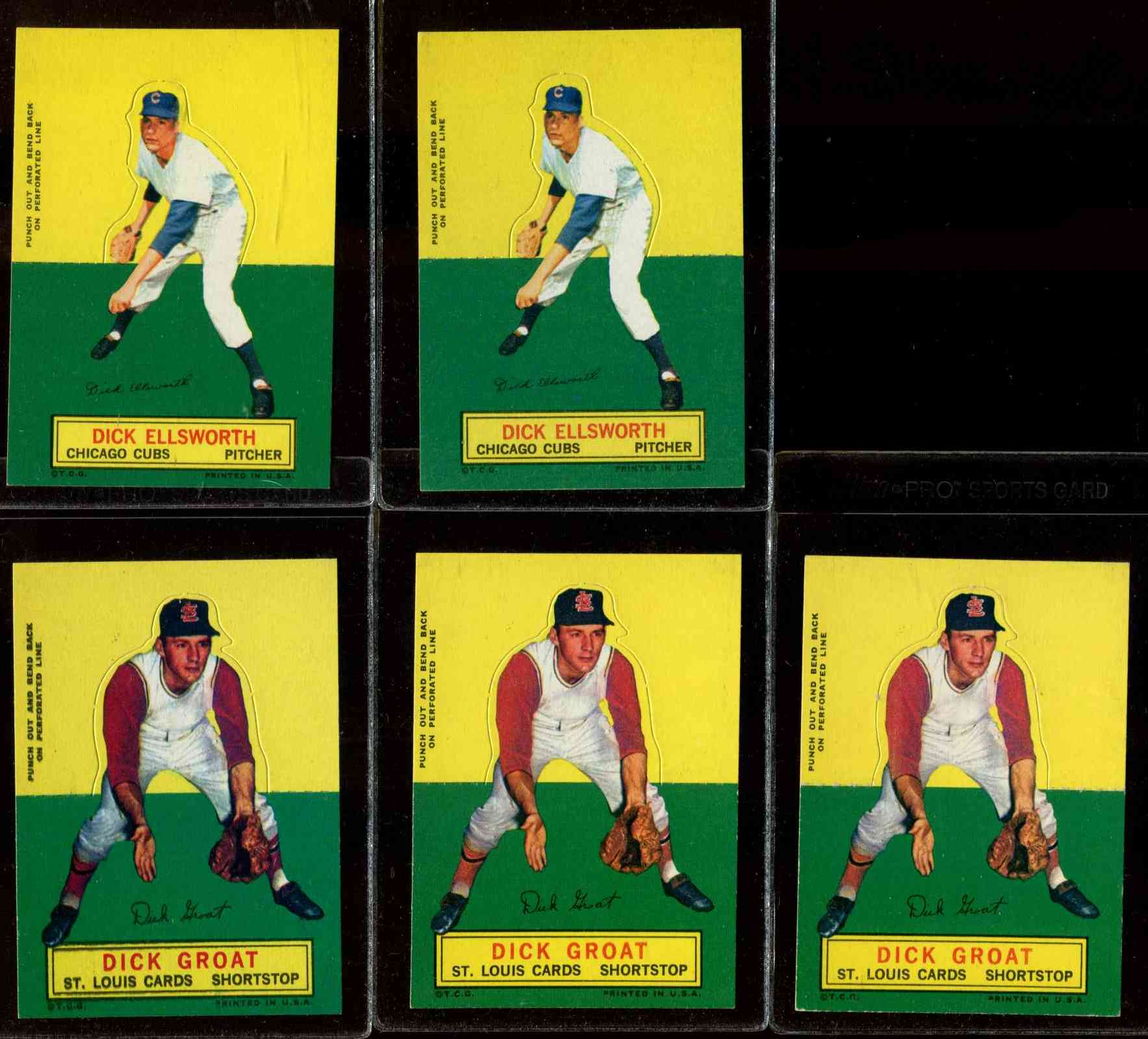 1964 Topps Stand-Ups/Standups - Dick Groat [#b] (Cardinals) Baseball cards value