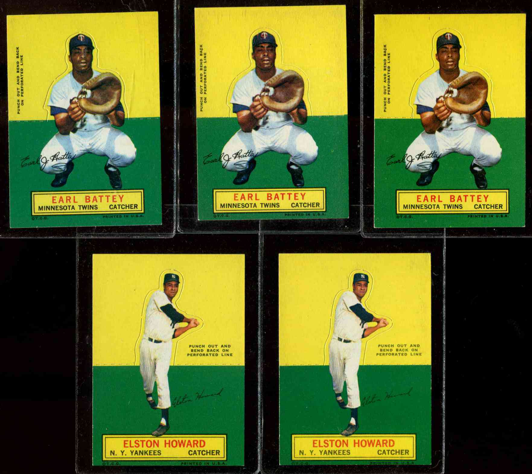 1964 Topps Stand-Ups/Standups - Earl Battey [#b] (Twins) Baseball cards value