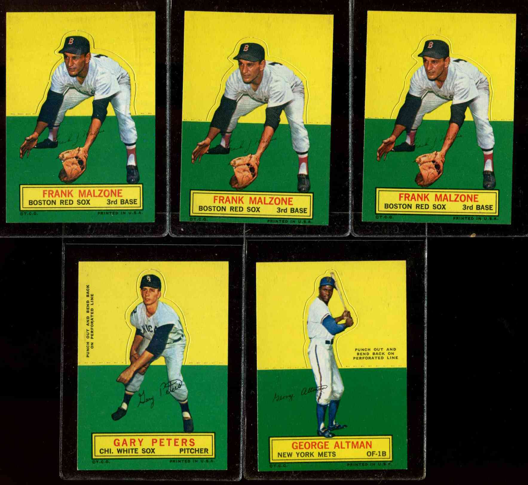 1964 Topps Stand-Ups/Standups - Frank Malzone [#a] (Red Sox) Baseball cards value