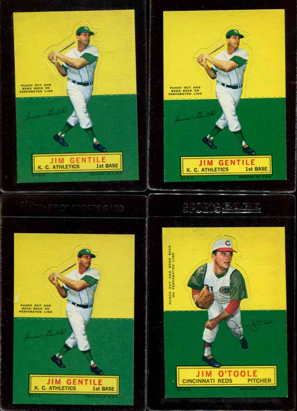 1964 Topps Stand-Ups/Standups - Jim Gentile [#c] (Kansas City A's) Baseball cards value