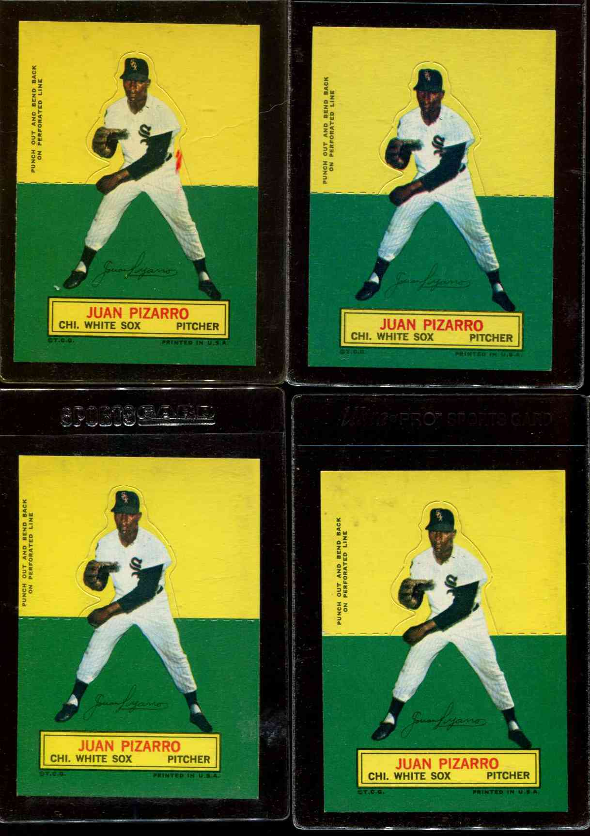 1964 Topps Stand-Ups/Standups - Juan Pizarro [#a] (White Sox) Baseball cards value